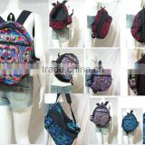 HIPPIE BOHO thai <b>handmade</b> festival backpack mini pocket hmong Hil Tribe <b>fabric</b> Bag Handbag