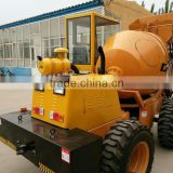0.5 cubic meters self discharging concrete mixer in Africa