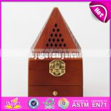 2017 Wholesale antique pyramid design wooden arabic incense burner W02A258-S