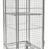 Industry Four-Wheel Steel Roll Cage Trolley With Roller Bearing