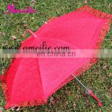 A0202 Cheap red lace child umbrella