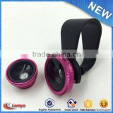 Universal 3 In 1 Mini Clip-on camera phone special effect phone lens with ce rohs