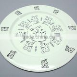 White Charger Plates,Designer White Charger Plate,Metal Charger Plate,White Colour Charger Plate,White Under Plate