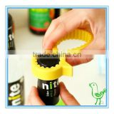 Yellow duck cap bottle opener,creative silicone bottle opener
