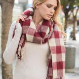 Soft Winter Plaid Checked Pashmina Scarf Shawl Wraps Manufacturer