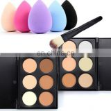 6 Colors Eye Shadow Brush Power Puff Matte Eye Shadow