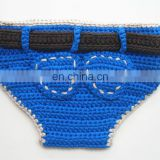 Crochet Blue Baby Bloomers,Knitted Baby Nappy Cover ,Newborn Baby Diaper