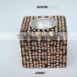 Copper Metal Mosaic T light holdercan also be made in other metals
