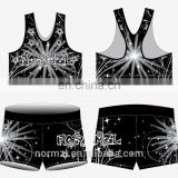 Sublimated custom kids dancewear wear girls fitness clothes