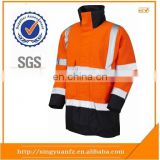 Hi vis 100%Polyester Oxford Workwear waterproof windbreaker jacket