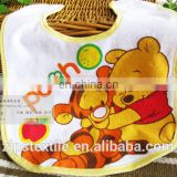 wholesale 100% cotton cartoon printing baby bibs