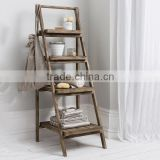 WOODEN FOLDING 4 TIER SHELF