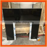 Natural Black Granite Fireplace Insert Slabbed
