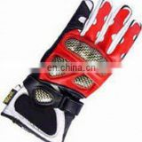Leather Motorbike Gloves , Genuine Leather Colored Motorcycle Riding Glove Winter Motorbike Glove