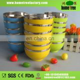 450ml multi-functional stainless steel bowl with plastic outside