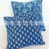 Indigo Print cushion cover block printed pillow cover cotton cushion covers wholesale
