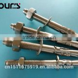 stainless steel wedge anchor through bolt anchor bolt
