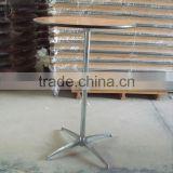 wholesale cheap price multifunctional wooden bar table pvc edge cocktail table