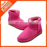 classical rose ankle wool boots