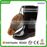 latest soft sole safety boots, plastic safety boots, black rain men boots