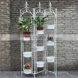 Detachable Folding Indoor Decorative9 Pot Screen Planter