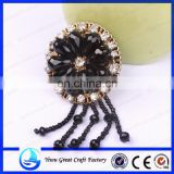 High-grade black glass beads shoes flower nail bead flower hand-woven shoes flower