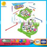 2016 new toys magnetic toy fishing turntable toy set game for kids frog toy