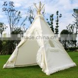 ShiJ Tipi Cotton Canvas Gorgeous Teepee Tent