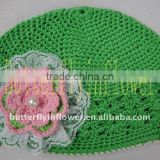 Soft Baby Winter Flower Hats crochet beanie hats with flower no moq