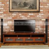 Sideboard tv COSTA RICA 4 drawers glass melamic teak wood furniture