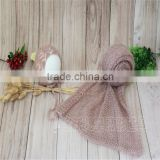 Photography Props Knit Newborn Wrap Layer Baby Girl Boy Swaddle Blanket and Bonnet