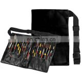 High Quality Black PU Professional Makeup Apron with Artist Belt Strap for Women