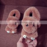 Wholesale new design winter slippers kids girl with high quality