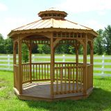 Luxury Eco-friendly Wooden Outdoor Bar gazebo