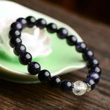 The bright sky blue stone accessories jewelry bracelets Korean natural crystal bracelet.