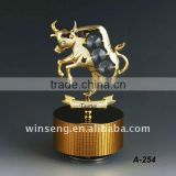 24k gold plated taurus music box for gifts