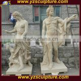 hand carved antique nature marble nude man and woman statue