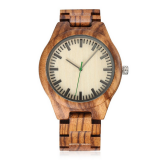 Wooden watch 2017 bamboo zebrano wood new fashion watch