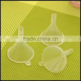 PP transparent mini funnel for perform splitting wholesale/OEM plastic hopper manufacturer/mini plastic funnel