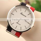 Top wholesale nylon geneva wrist watch for women