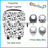 4 pcs bandana bib and nursing cover for baby car seat canopy