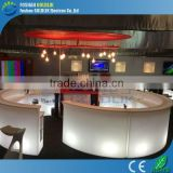 GLACS Control RGB 16 Color Changing Plastic Lighted Bar Furniturer/Commercial Bar Counters