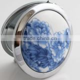 2014 Hot Crystal Cosmetic Mirror / Pocket Mirror / Compact Mirror,Folding Porcelain Double Side Makeup Mirror Wholesale,
