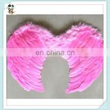 Adult Party Costume Cheap Pink Feather Angel Wings HPC-0896