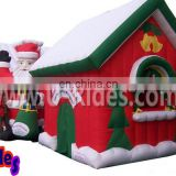 nylon oxford inflatable christmas house for kids with roof