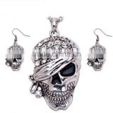 Gold and Silver Design Skull Jewellery,Skull Necklace Set,Jewelry Set
