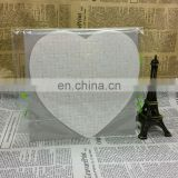 sublimation heat transfer blank heart shape paper jigsaw