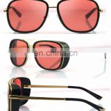 Mens Square Tony Stark Iron Men Sunglasses Retro Transparent Lens AS023
