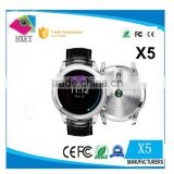 X5 touch screen mobile phone watch android wifi smart heart rate monitor watch with blood pressure monitors