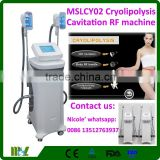 Liposuction Cavitation Slimming Machine 2017 MSLCY02i Double Ultrasonic Rf Cavitation Machine Cavitation Vacuum Slimming Machine